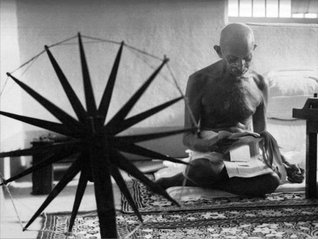 Mahatma Gandhi by Photographers Margaret Bourke-White and Henri Cartier-Bresson