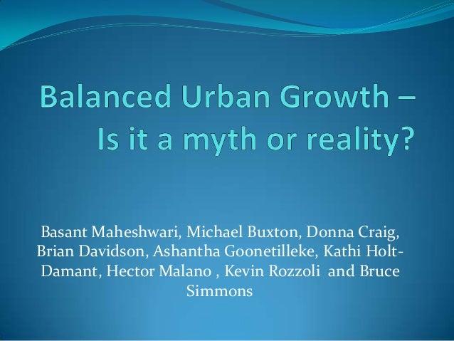 Basant Maheshwari, Michael Buxton, Donna Craig, Brian Davidson, Ashantha Goonetilleke, Kathi HoltDamant, Hector Malano , K...
