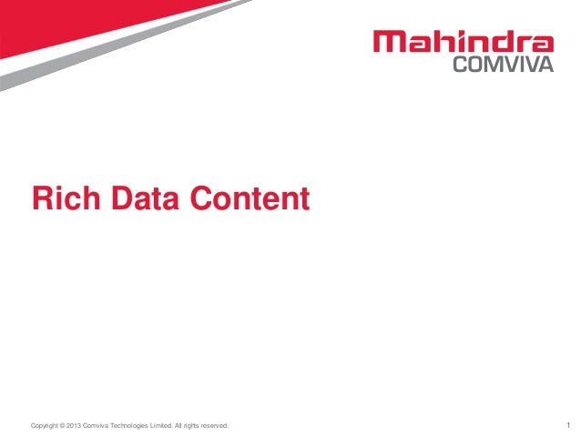 Mahindra Comviva's-  Rich Data Content Offering for Africa