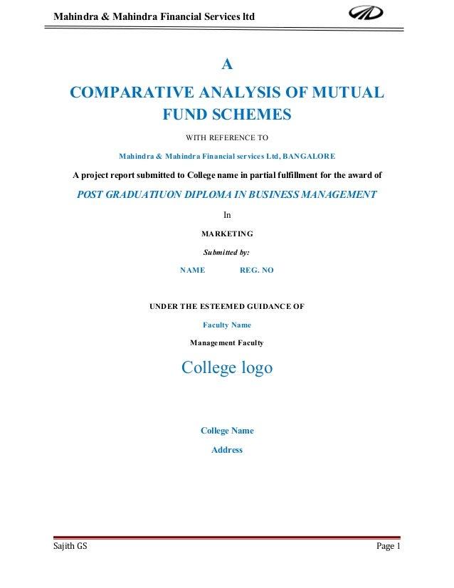 Mahindra & Mahindra Financial Services ltd                                            A    COMPARATIVE ANALYSIS OF MUTUAL ...