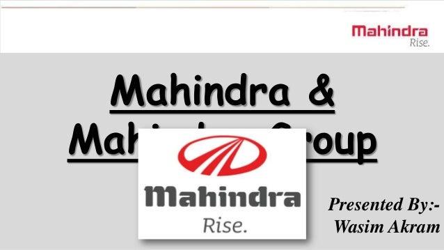 Mahindra group  sm final