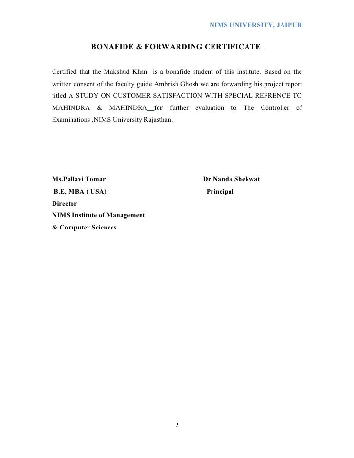 dissertation report format