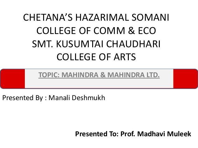Equity Research on Mahindra & mahinra 205