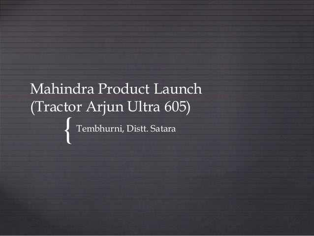 Vritti media Mahindra Product Launch - Tembhurni
