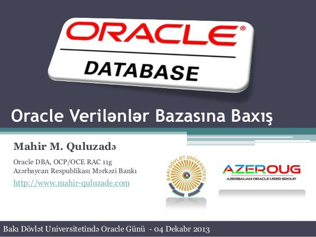 Oracle Day in Baku State University - Oracle Database Overview