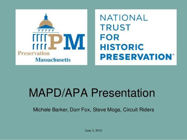 Historic Preservation: Circuit Riders