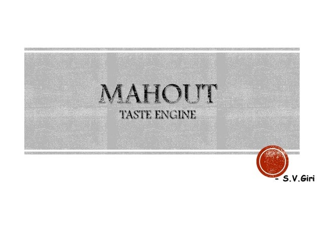Mahout Taste Engine