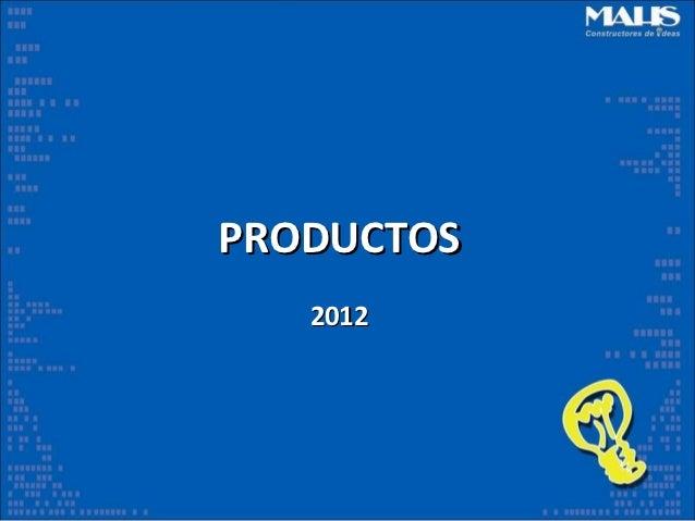 PRODUCTOS   2012