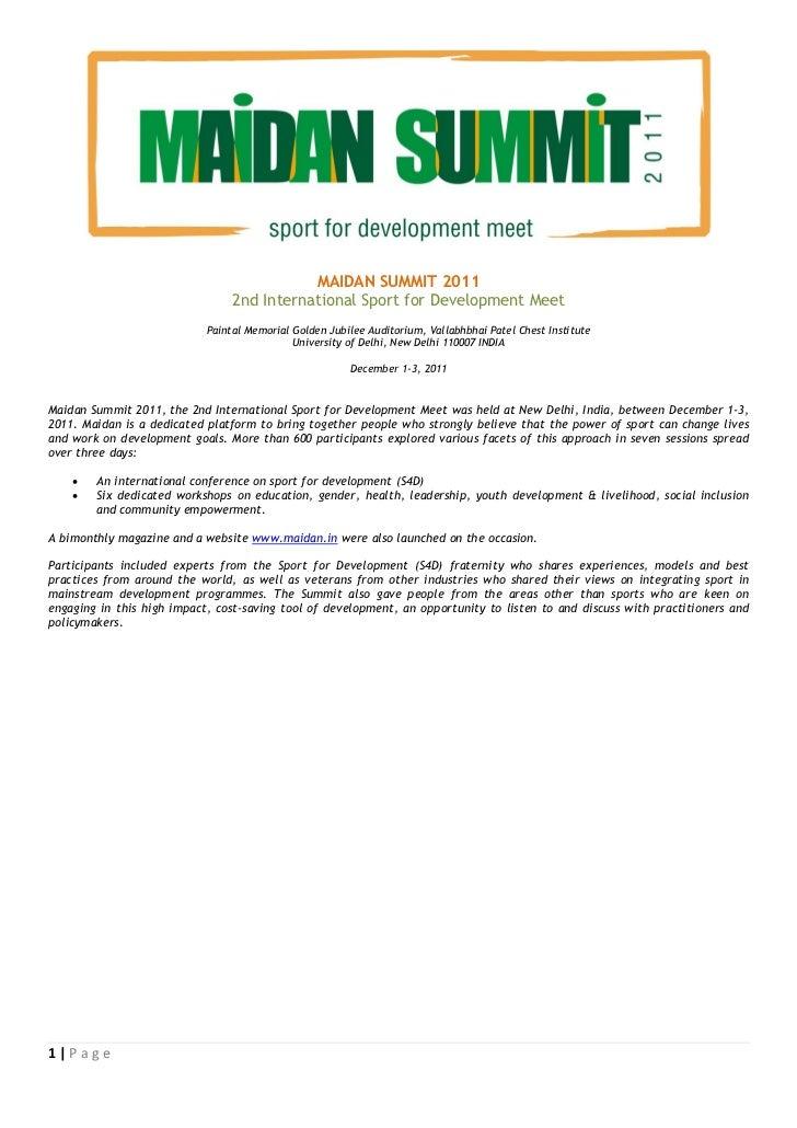 Maidan Summit 2011 - Compendium of Proceedings