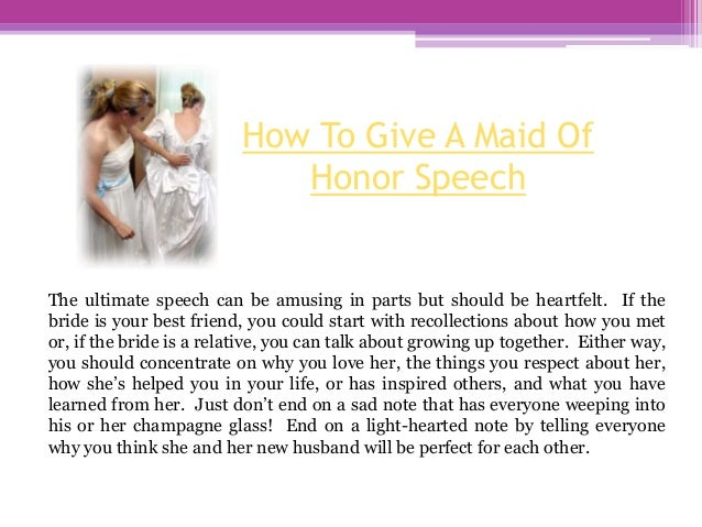 How to write the best maid of honor speech