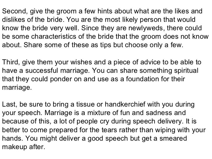 Write my writing a funny wedding speech