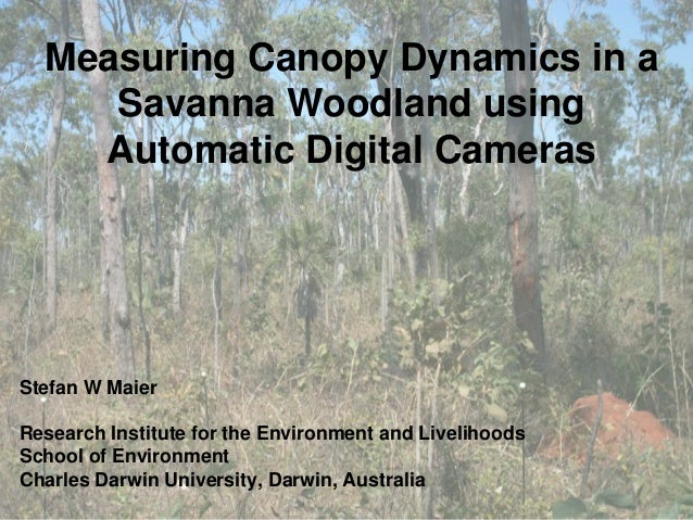 Measuring Canopy Dynamics in a Savanna Woodland using Automatic Digital Cameras Stefan W Maier Research Institute for the ...