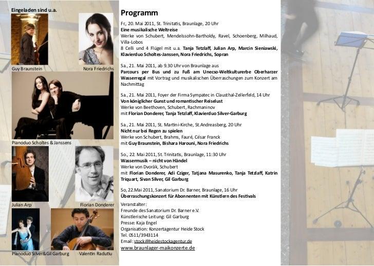 Braunlager Maikonzerte 2011 - Programm