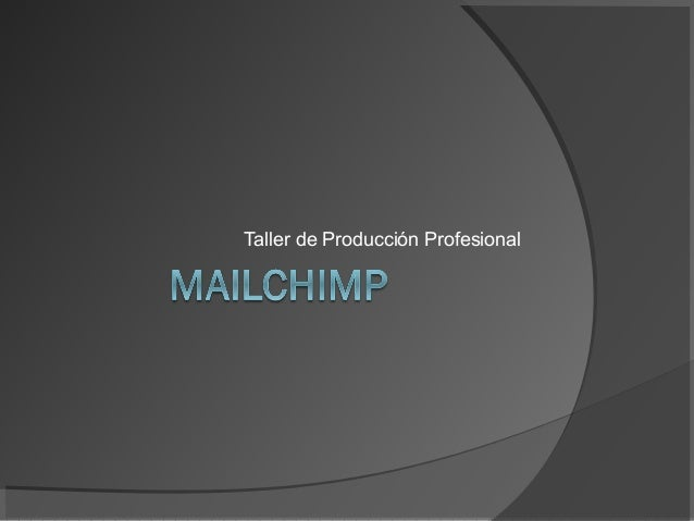 Taller de Producción Profesional