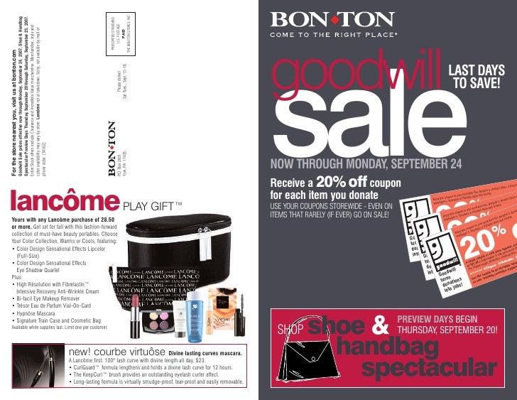 THE BON-TON STORES, INC.                                                     Spectacular Preview Days Thursday, September ...