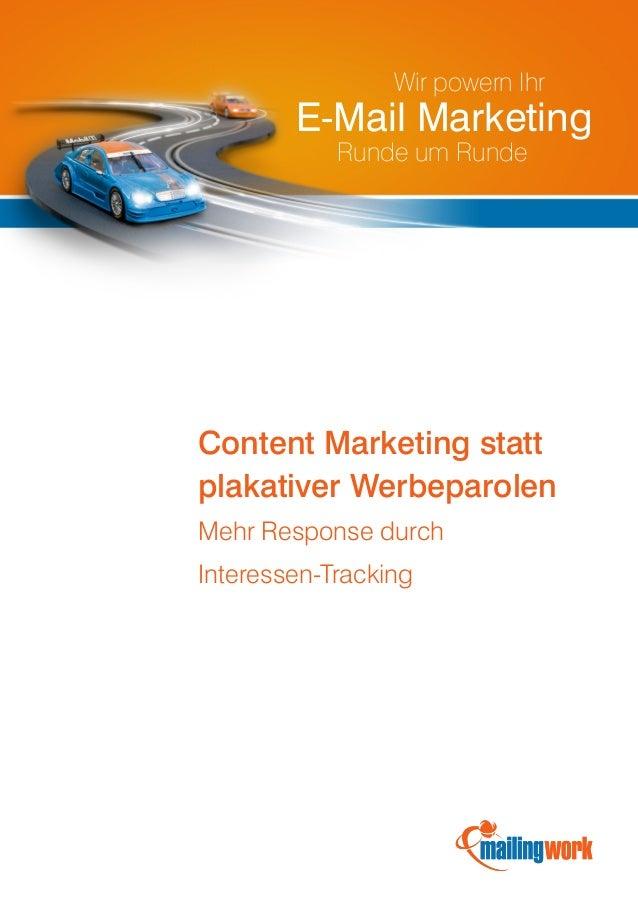 mailingwork: Mehr Response im E-Mail Marketing durch Interessen-Tracking