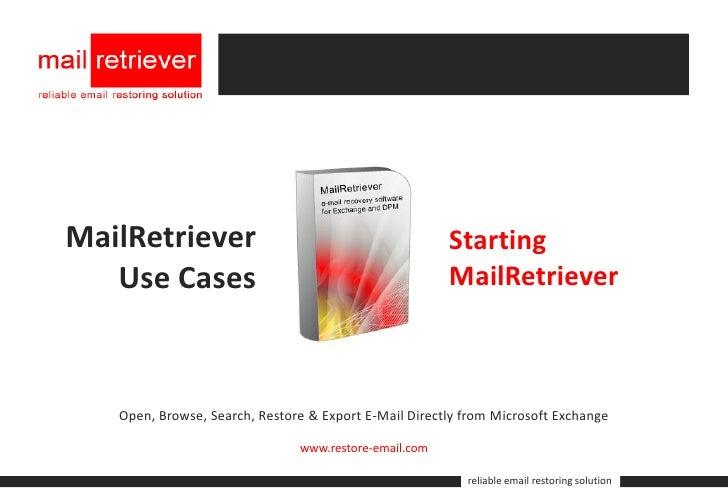 MailRetriever                                          Starting    Use Cases                                           Mai...