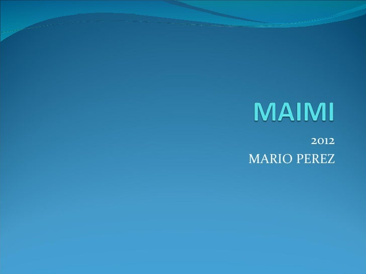 2012MARIO PEREZ