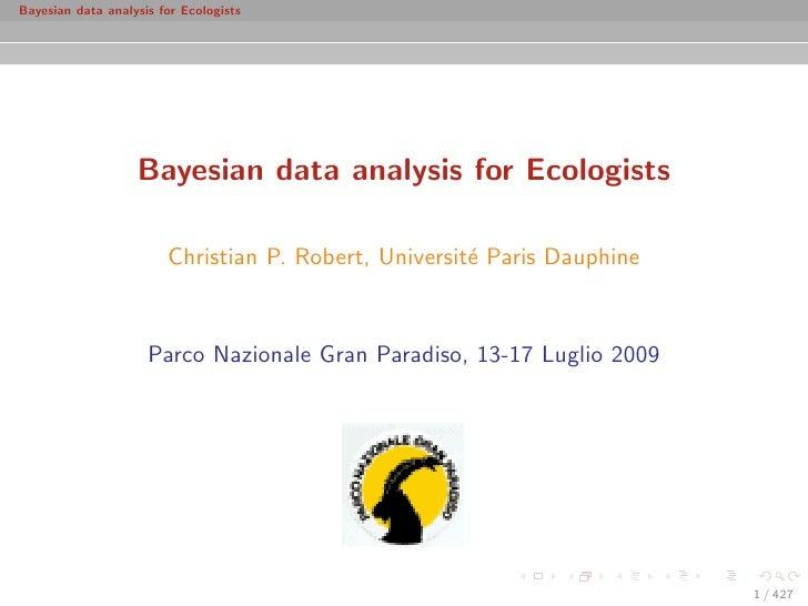 Bayesian data analysis for Ecologists                        Bayesian data analysis for Ecologists                        ...