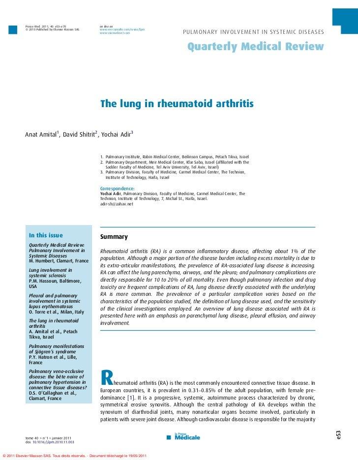 Presse Med. 2011; 40: e53–e70               on line on             ß 2010 Published by Elsevier Masson SAS.    www.em-cons...