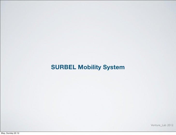 SURBEL Mobility System - Venture Lab 2012