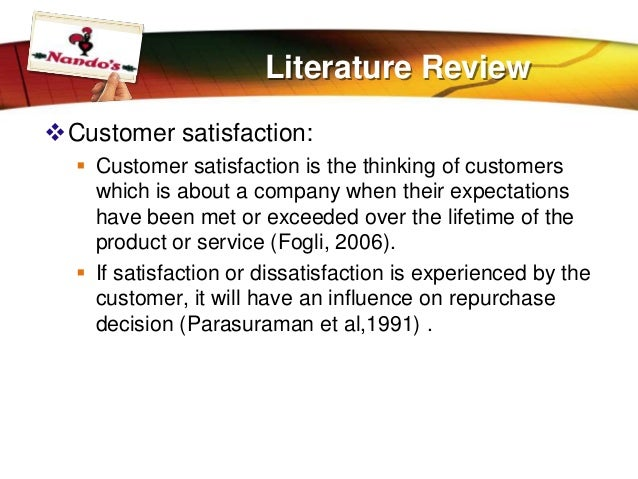 literature review on customer service delivery