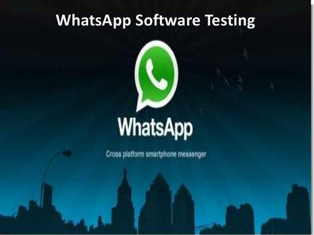 WhatsApp Software Testing