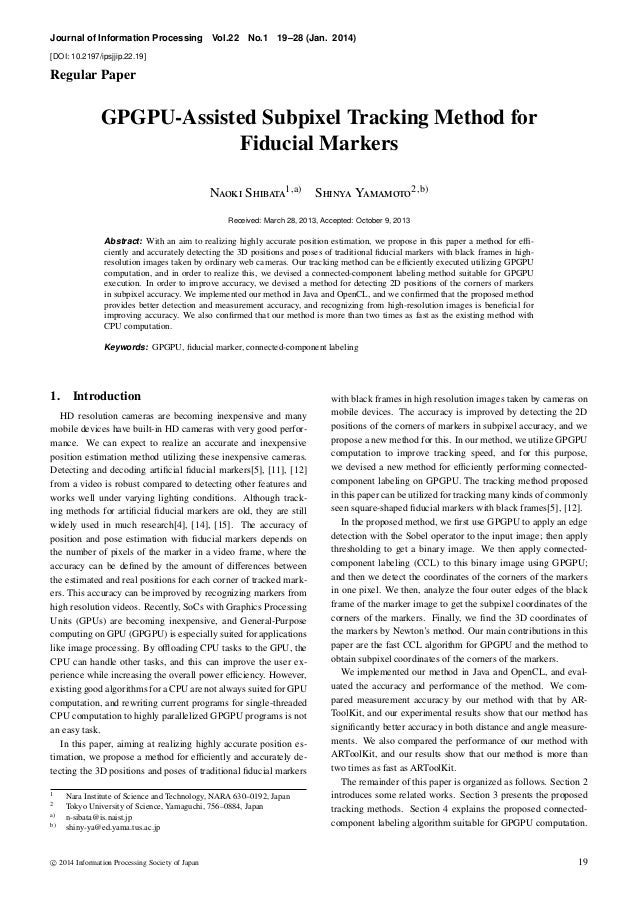 Journal of Information Processing Vol.22 No.1 19–28 (Jan. 2014) [DOI: 10.2197/ipsjjip.22.19] Regular Paper GPGPU-Assisted ...