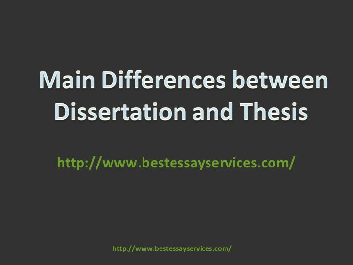 Thesis Dissertation Difference