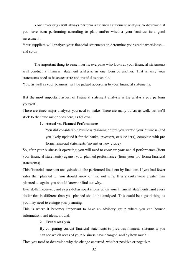 Writing financial statement analysis report Employing Narrative – Sample Statement Analysis