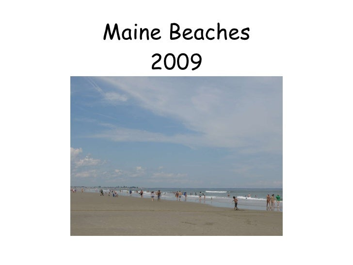 Maine Beaches 2009