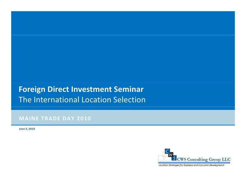 Maine International Trade Presentation