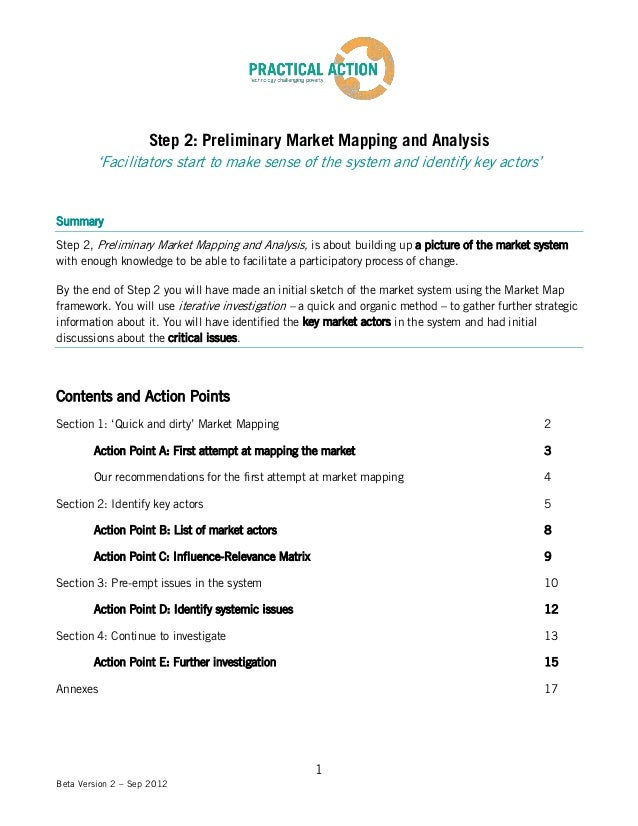 Step 2: Preliminary Market Mapping and Analysis         'Facilitators start to make sense of the system and identify key a...