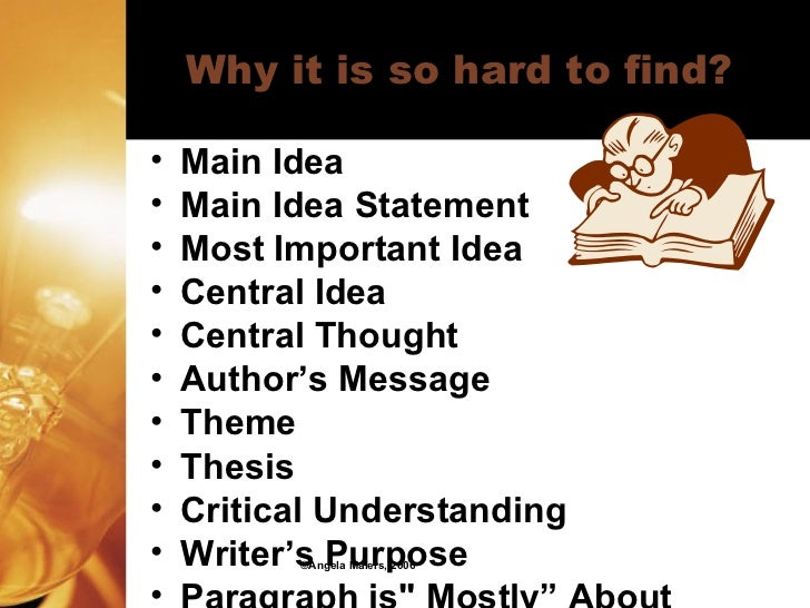 Difference between thesis and main idea
