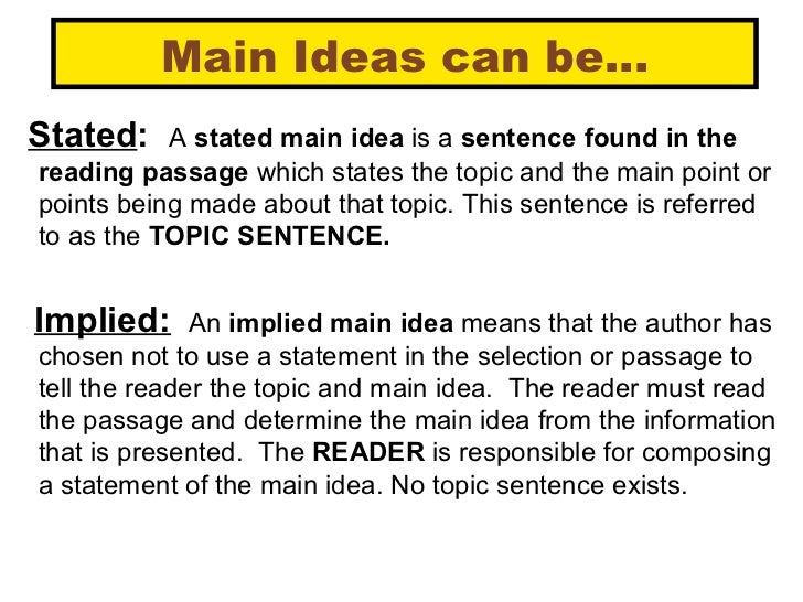 Main Idea Lessons Tes Teach – Finding the Main Idea Worksheets