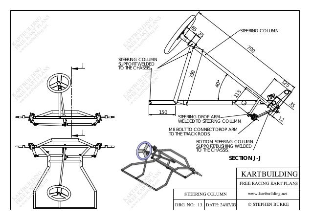 how to build a steering column for a go kart