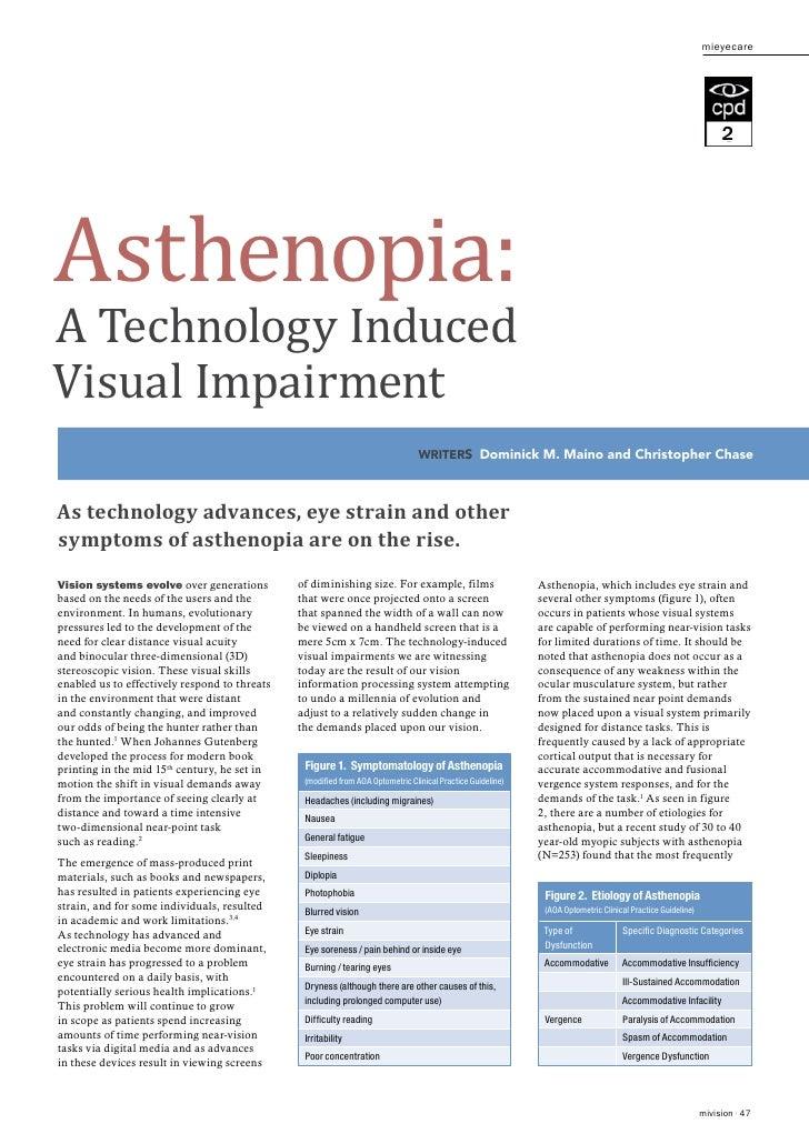 Asthenopia:                                                                                                               ...
