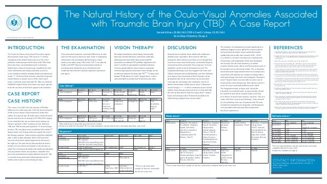 The Natural History of the Oculo-Visual Anomalies Associated with Traumatic Brain Injury (TBI): A Case Report