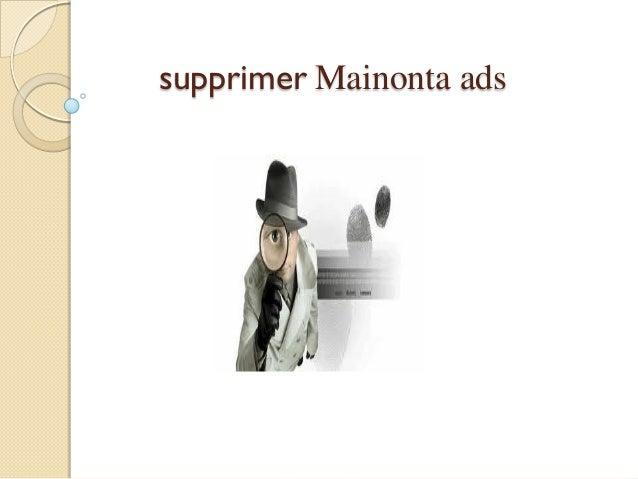 supprimer Mainonta ads