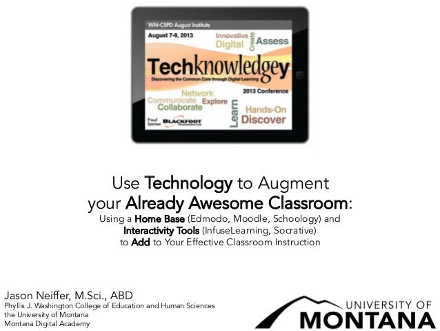 Use Technology to Augment your Already Awesome Classroom: Using a Home Base (Edmodo, Moodle, Schoology) and Interactivity Tools (InfuseLearning, Socrative) to Add to Your Effective Classroom Instruction