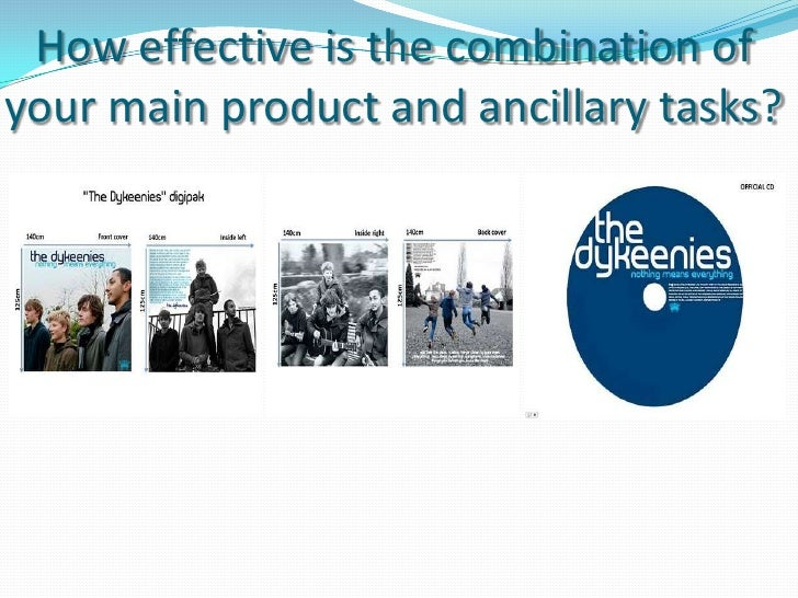 Main product and ancillary task combination