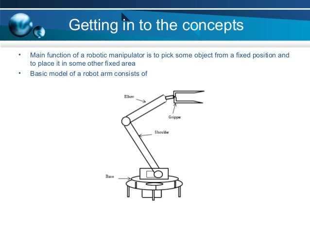 pick and place robotic arm ppt  for windows
