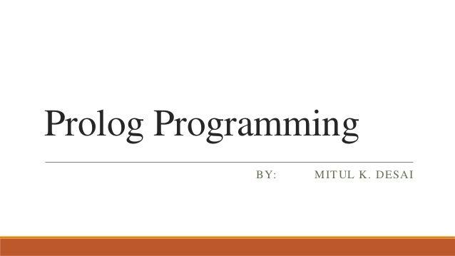 Prolog Programming : Basics