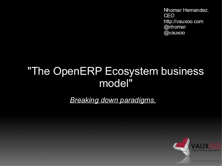 The OpenERP Ecosystem business model