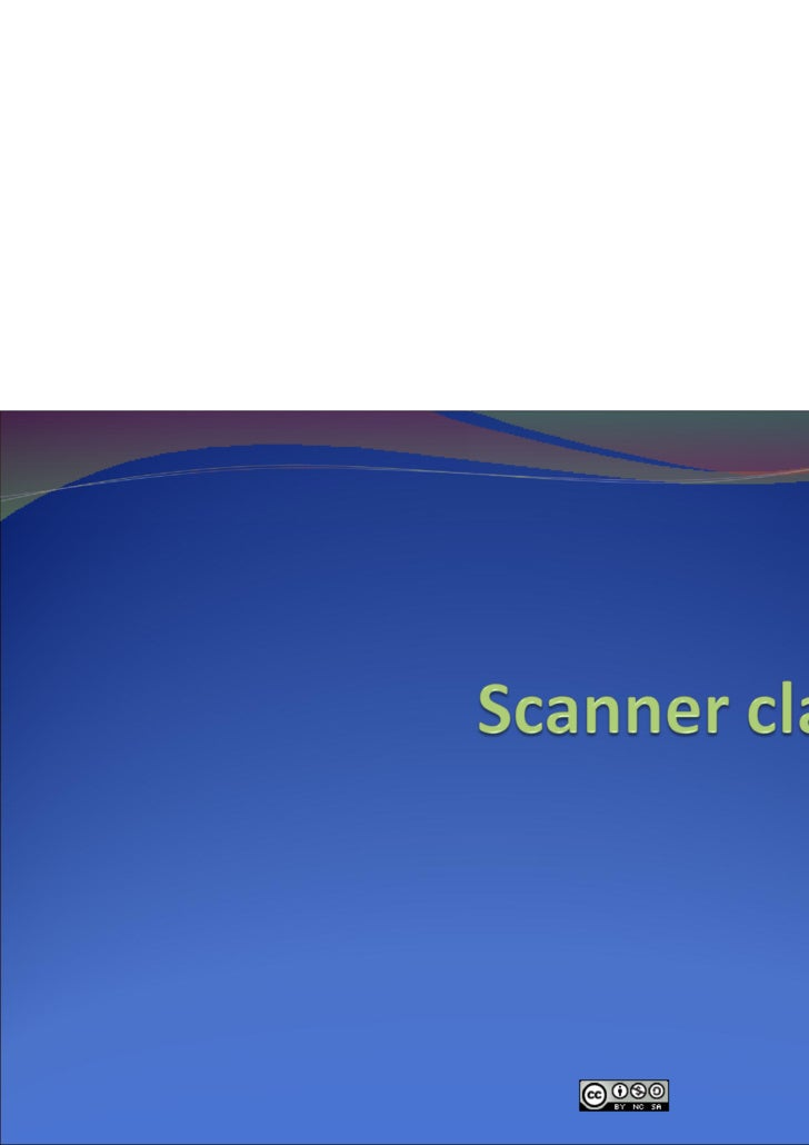 ppt on scanner class