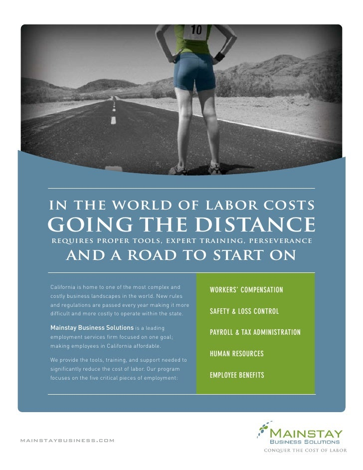 in the world of labor costs      going the distance       requires proper tools, expert training, perseverance           a...