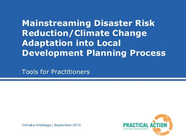 Planning for disaster risk reduction dashboard