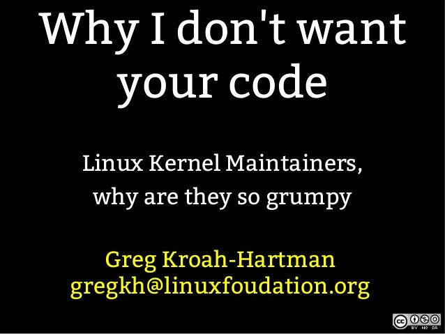 LCA13: Why I Don't Want Your Code