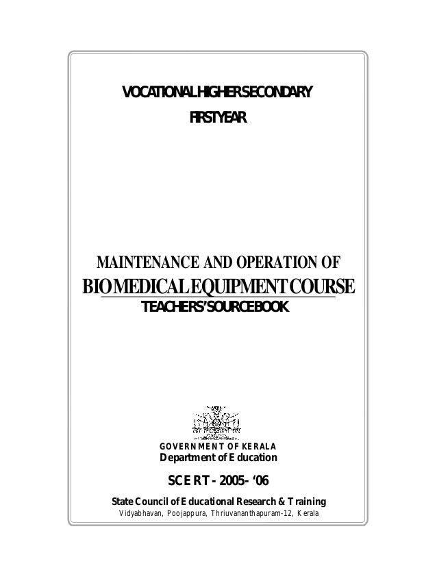 Maintanance & operation of biomedical equipements i