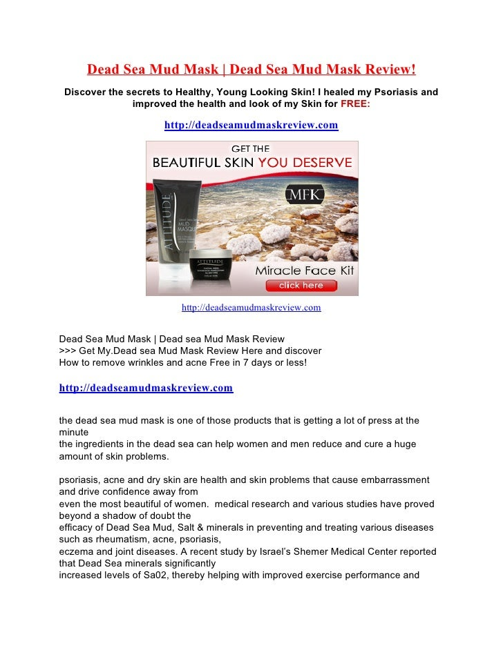 Dead Sea Mud Mask | Dead Sea Mud Mask Review!  Discover the secrets to Healthy, Young Looking Skin! I healed my Psoriasis ...